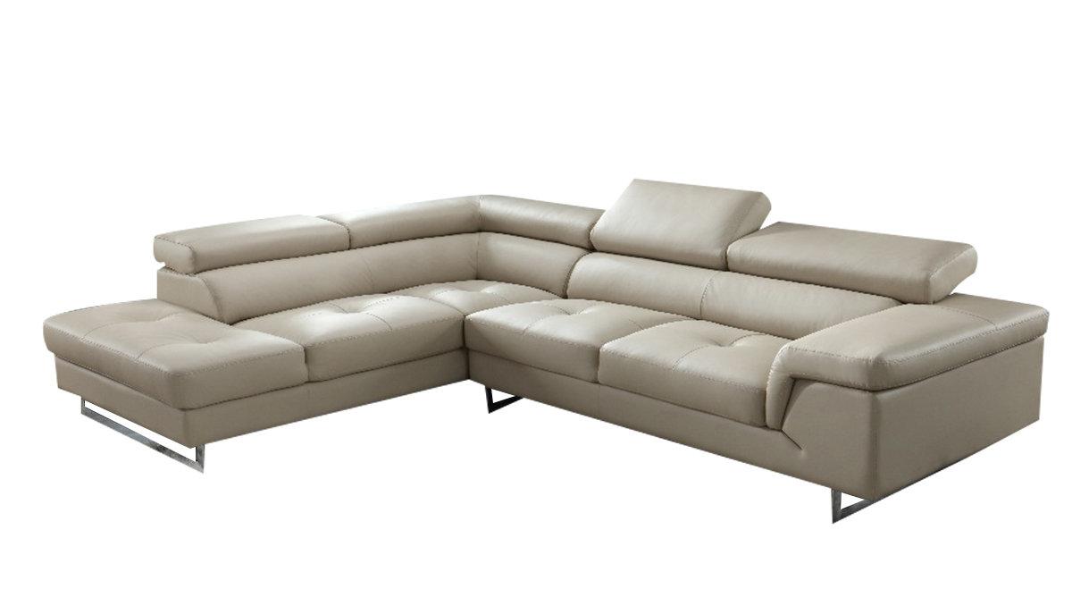 Half Leather L-shape sofa