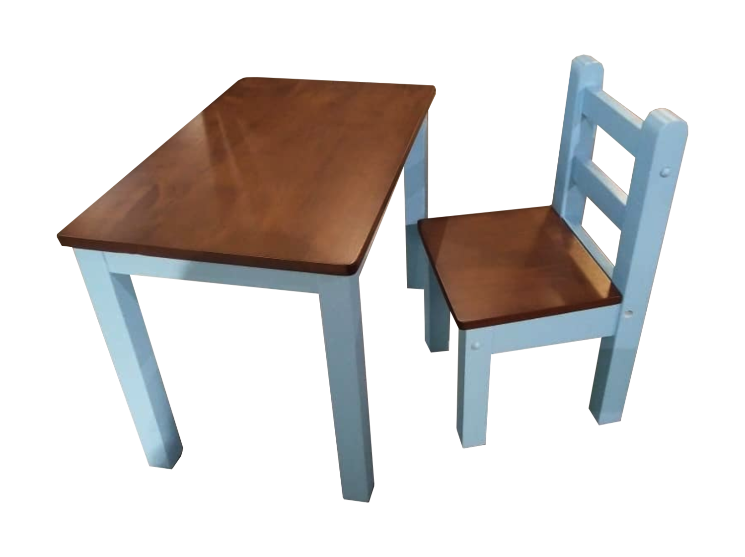 Children Study Table & Chair- Blue