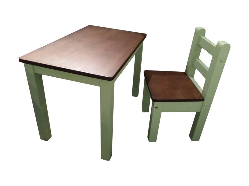 Children Study Table & Chair- Green
