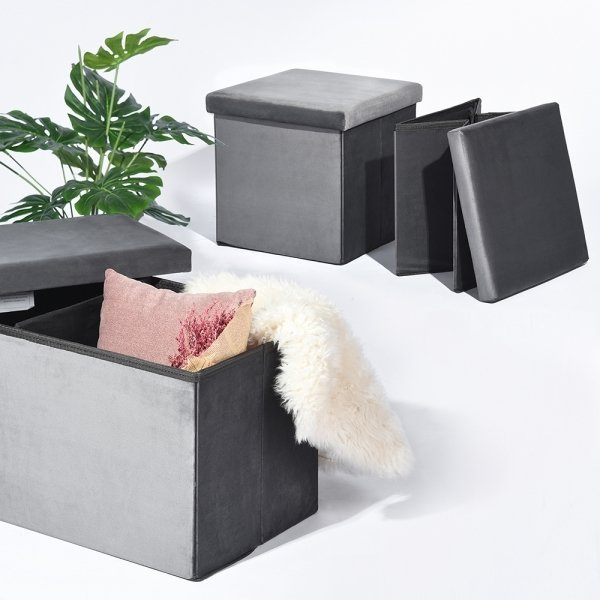 Storage box Gavin 2+1 grey