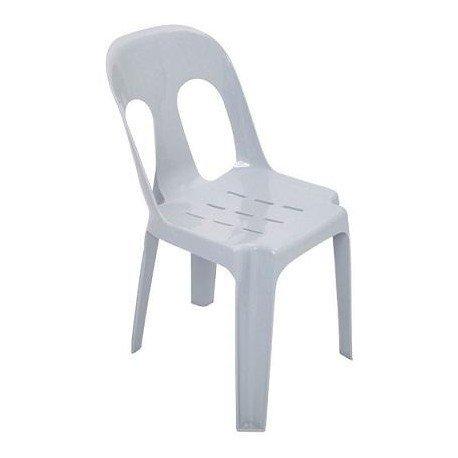 Plastic Chair (Blue/White)