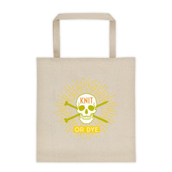Knit or Dye Tote bag