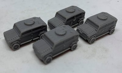 Pack of (4) x 6-8mm Epically Scaled RP01 Military 4x4's