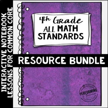 Interactive Math Notebook ALL 4th Grade Common Core Bundle ENTIRE YEAR