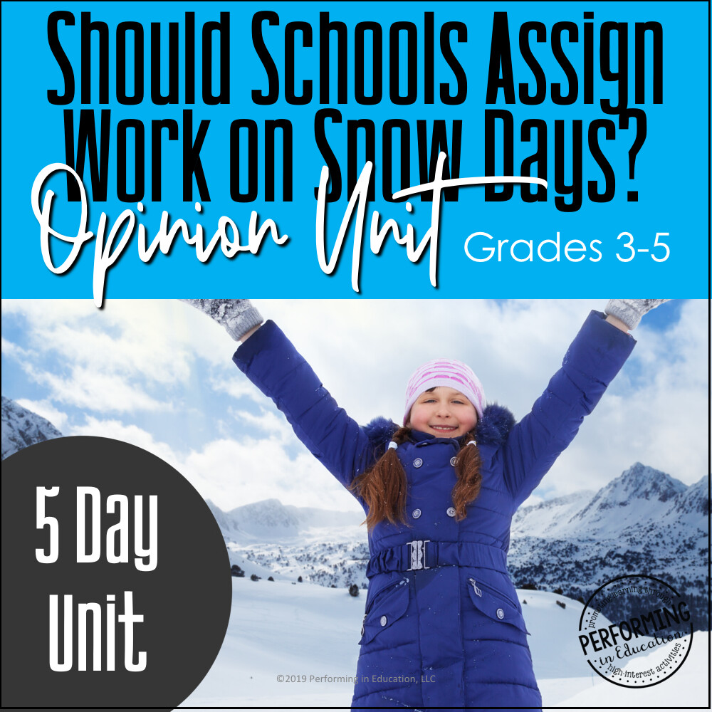 December Writing Activities   Snow Day Opinion Writing
