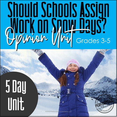 December Writing Activities | Snow Day Opinion Writing