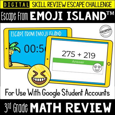 3rd Grade Math Test Prep Game   Digital Escape Room   Google Classroom