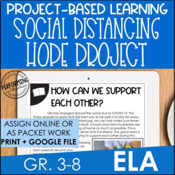 Social Distancing Hope Project Based Learning for Distance Learning ELA