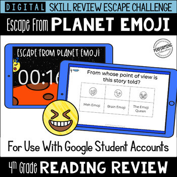 4th Grade Reading Review Game   Digital Escape Room   Google Distance Learning