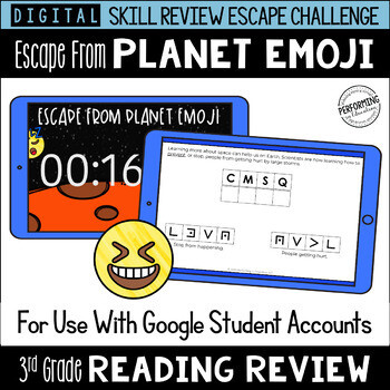 3rd Grade Reading Review Game   Digital Escape Room   Google Distance Learning