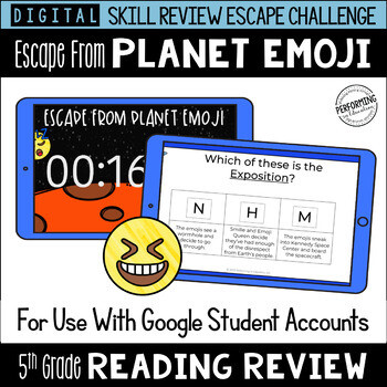 5th Grade Reading Review Game   Digital Escape Room   Google Distance Learning
