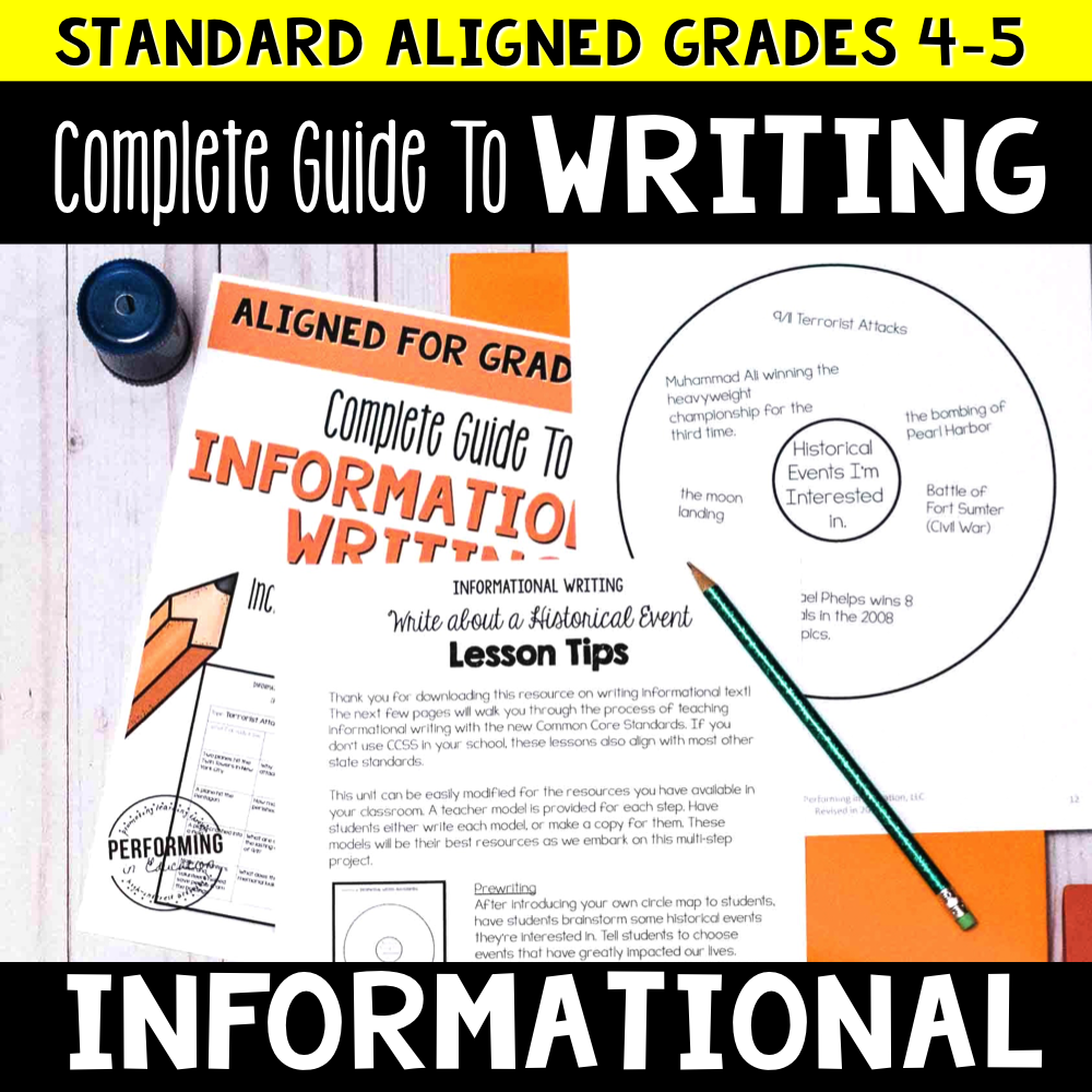 Complete Guide to Teaching Informational Writing Grades 4-5 00003