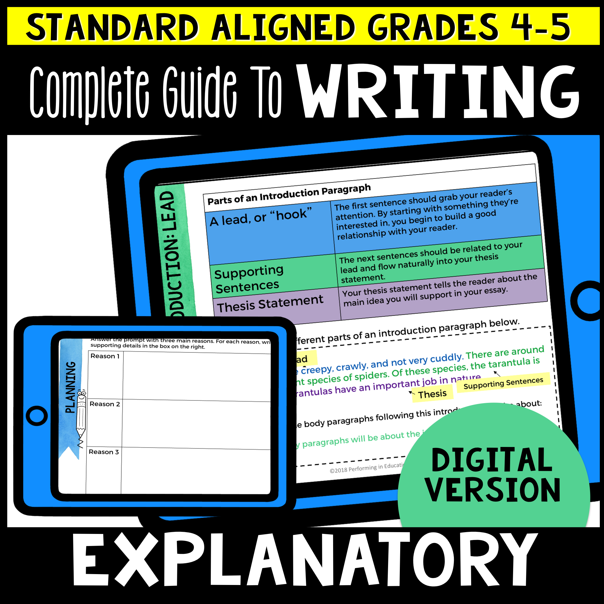 Complete Guide to Teaching Explanatory Writing Grades 4-5 (Expository)