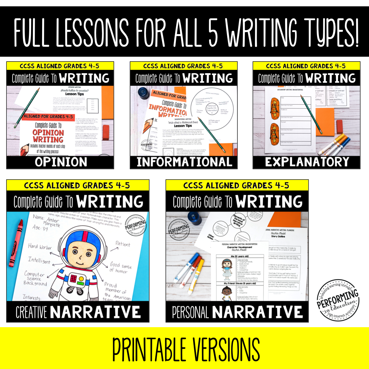 Complete Guide to Writing [Curriculum Bundle]