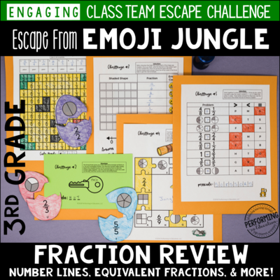 3rd Grade Fraction Review