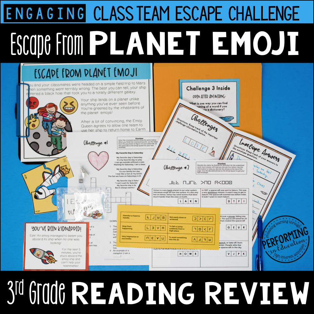 3rd Grade Planet Emoji (Reading Test Prep) 00024