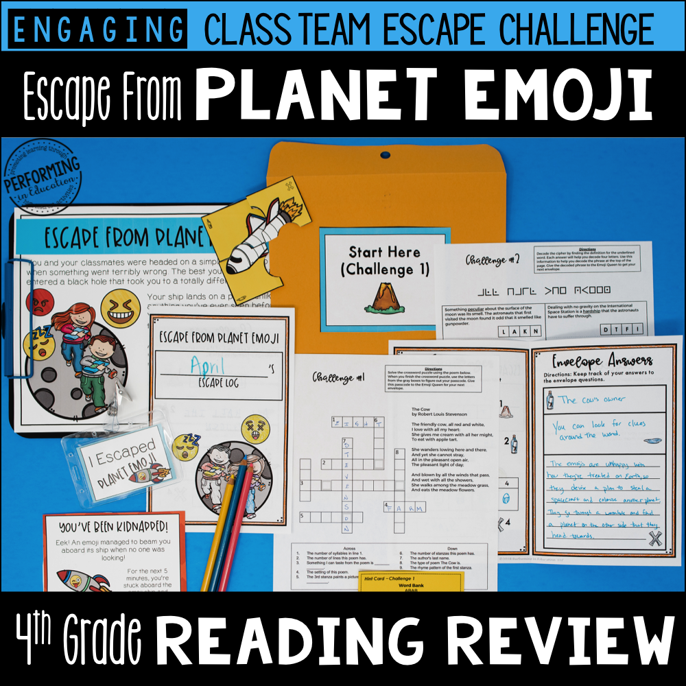 4th Grade Planet Emoji (Reading Test Prep) 00025