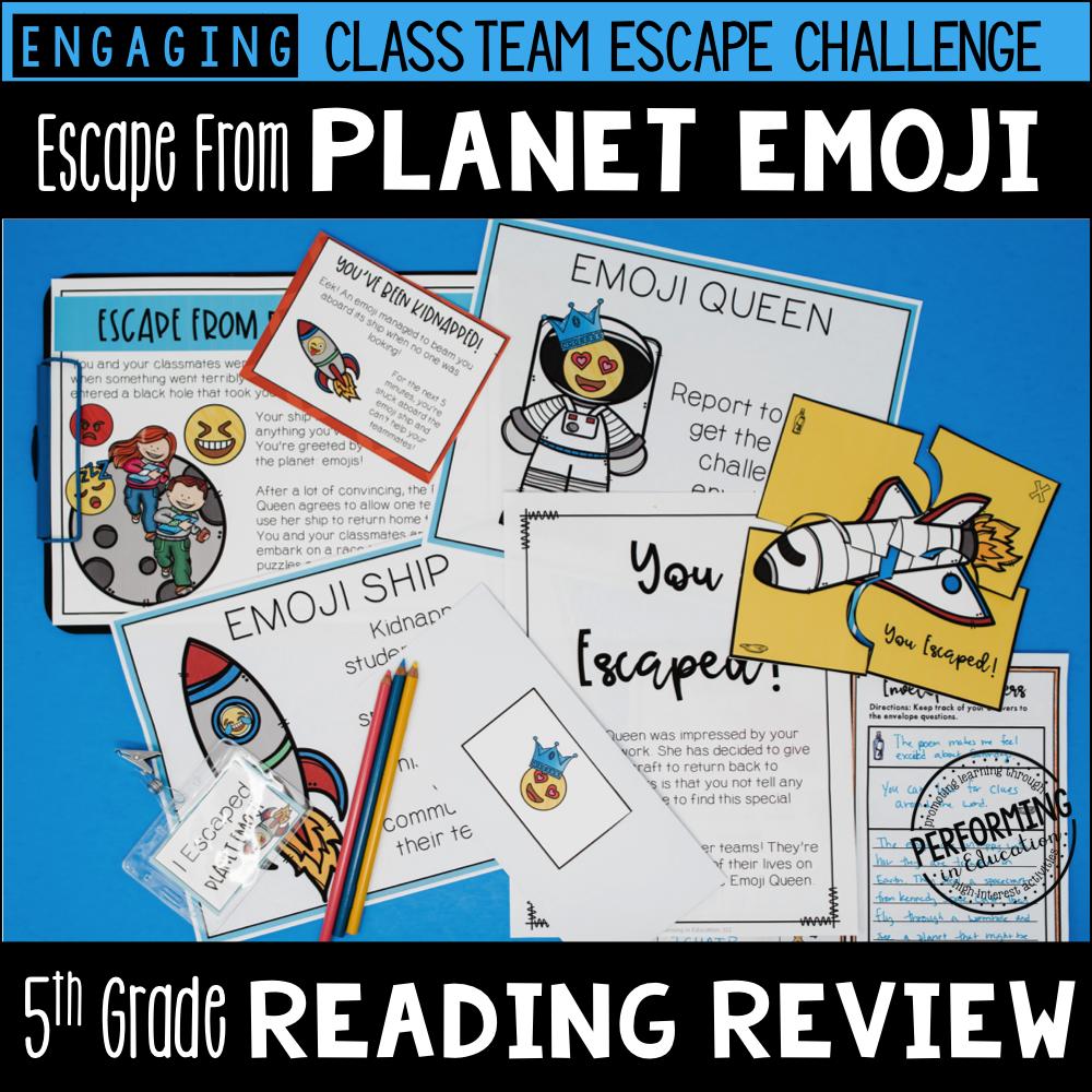5th Grade Planet Emoji (Reading Test Prep) 00026