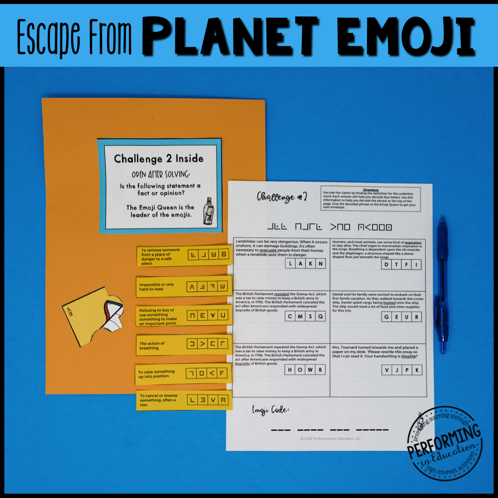5th Grade Planet Emoji (Reading Test Prep)