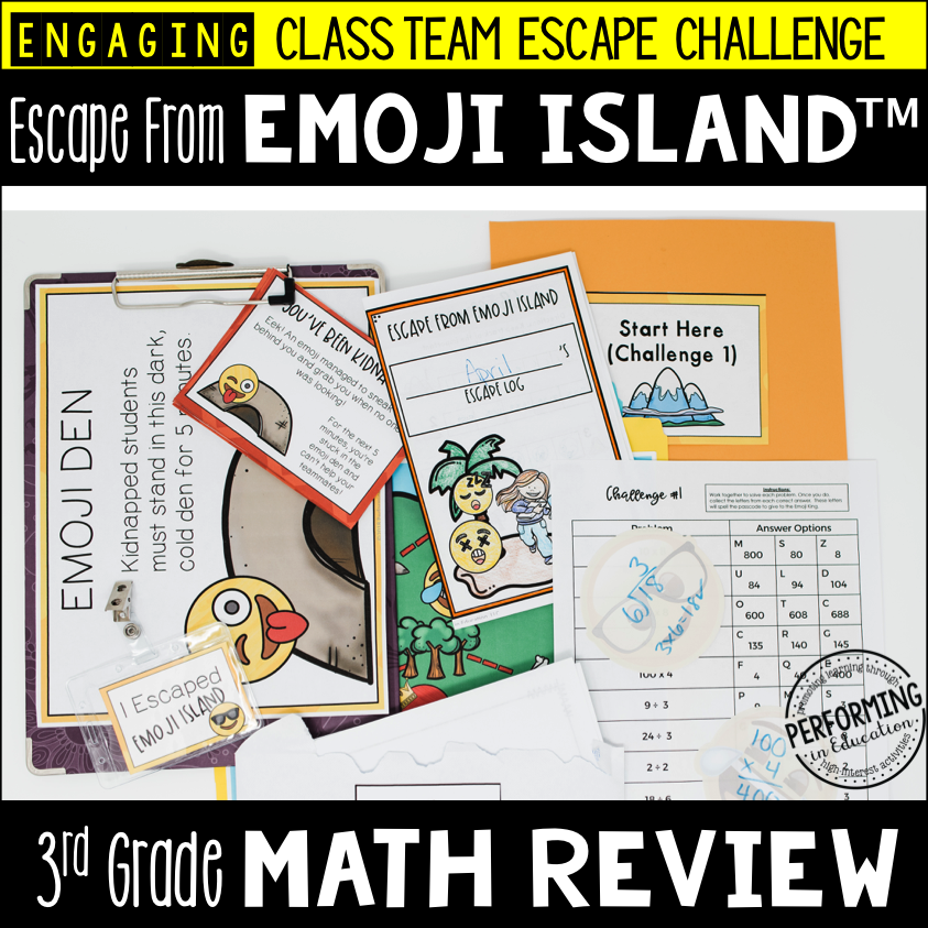3rd Grade Escape from Emoji Island® (Math Test Prep) 00027