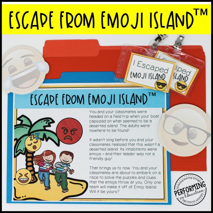 5th Grade Escape from Emoji Island® (Math Test Prep)