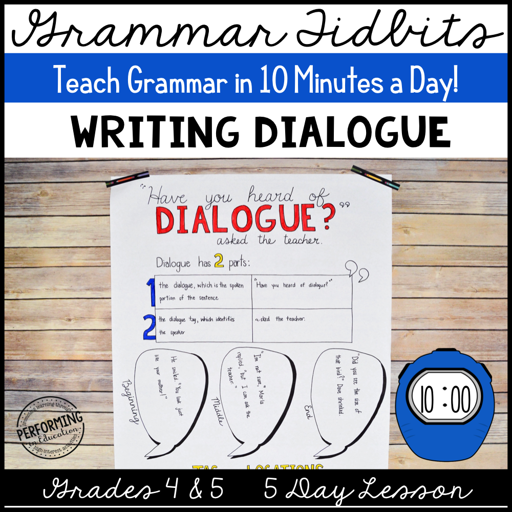 Grammar Tidbits: Writing Dialogue 00033