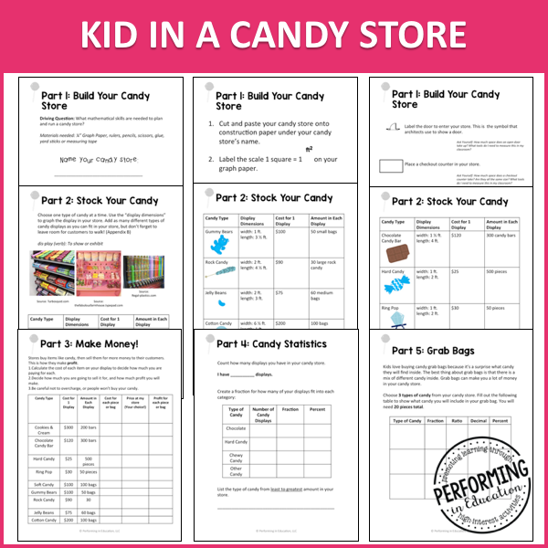 5th Grade Project Based Learning: Kid in a Candy Store