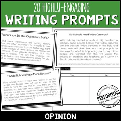 Opinion Writing Prompts (Print & Digital)