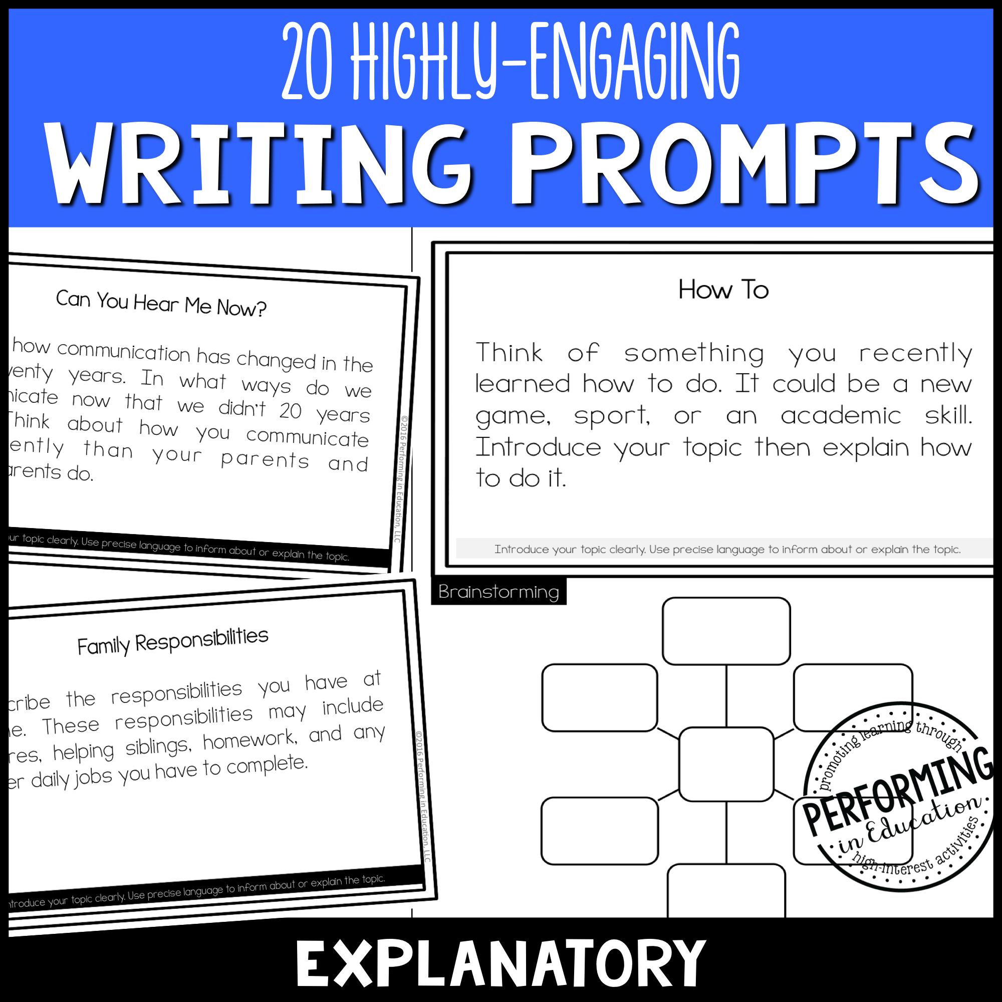 Explanatory Writing Prompts (Print & Digital) 00037