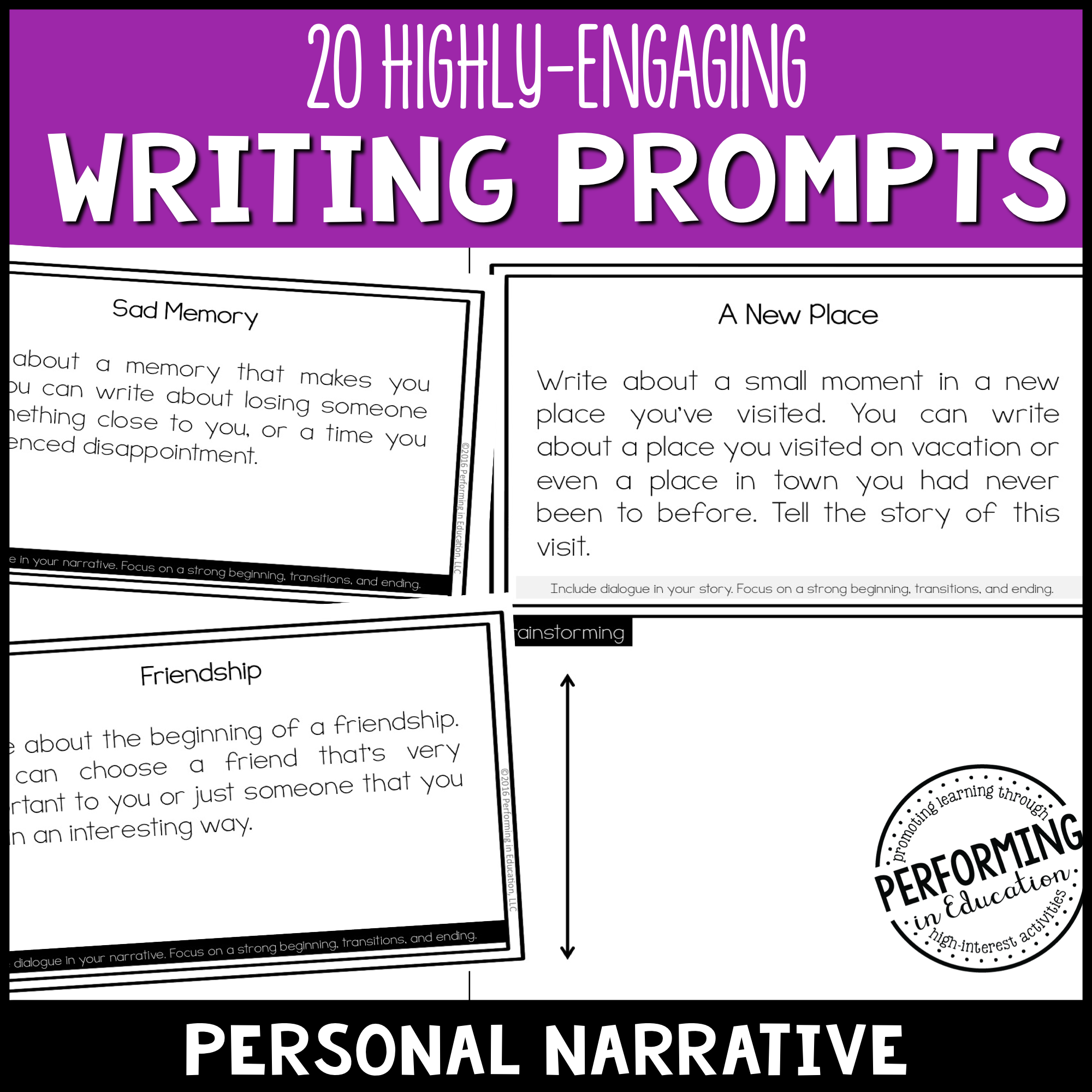 Personal Narrative Writing Prompts (Print & Digital) 00038