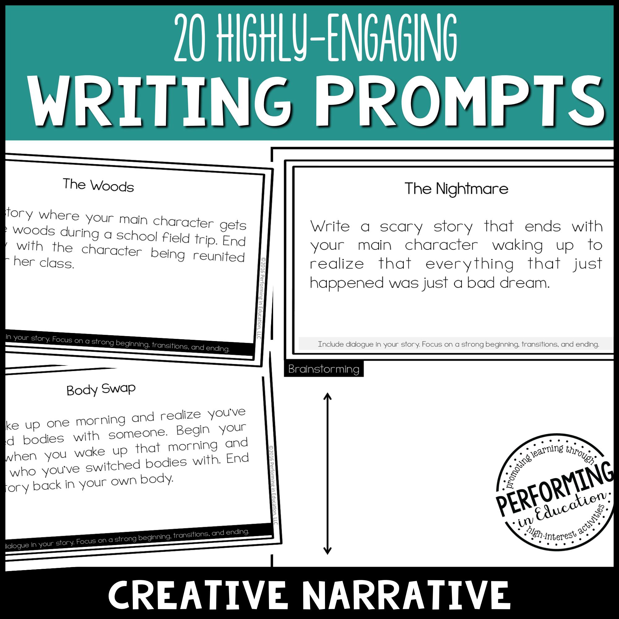 Creative Narrative Writing Prompts (Print & Digital) 00039