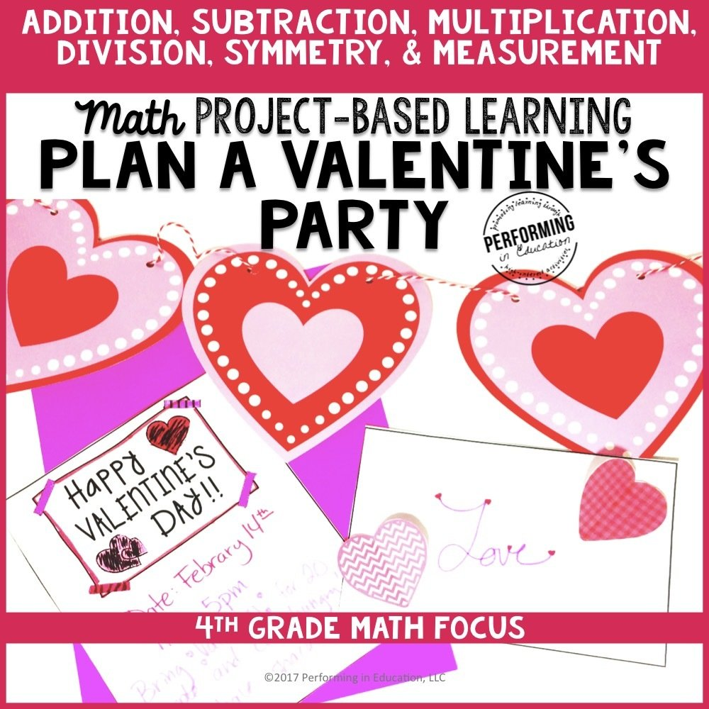 Valentine's Day Math Project-based Learning: 4th Grade Edition 00050