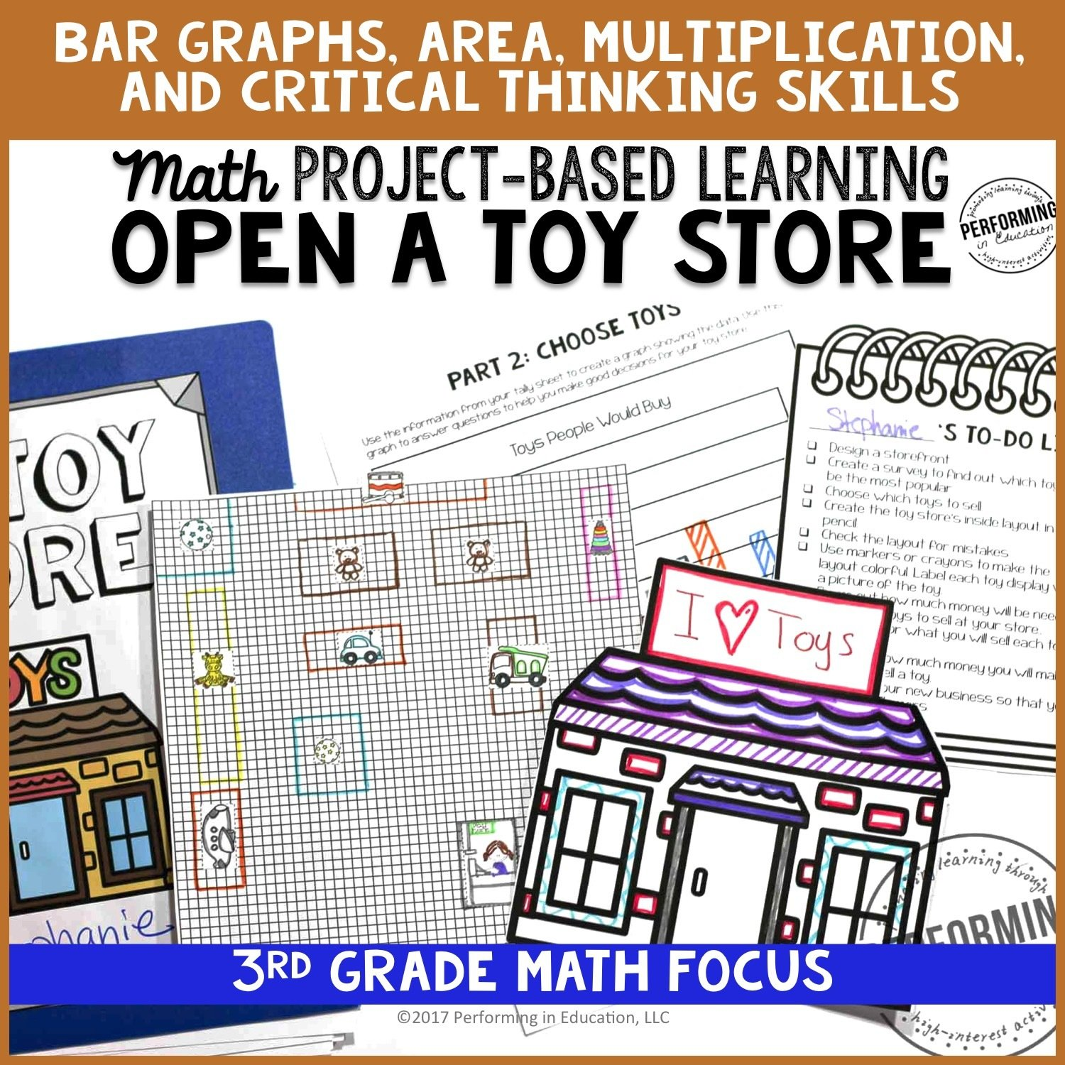 Math Project-based Learning for 3rd Grade: Open a Toy Store 00054