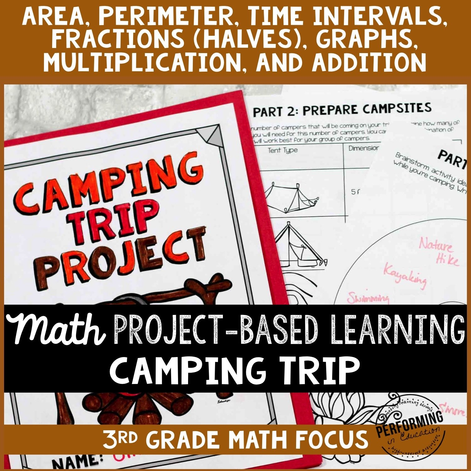 Math Project-based Learning for 3rd Grade: Camping Trip! 00055