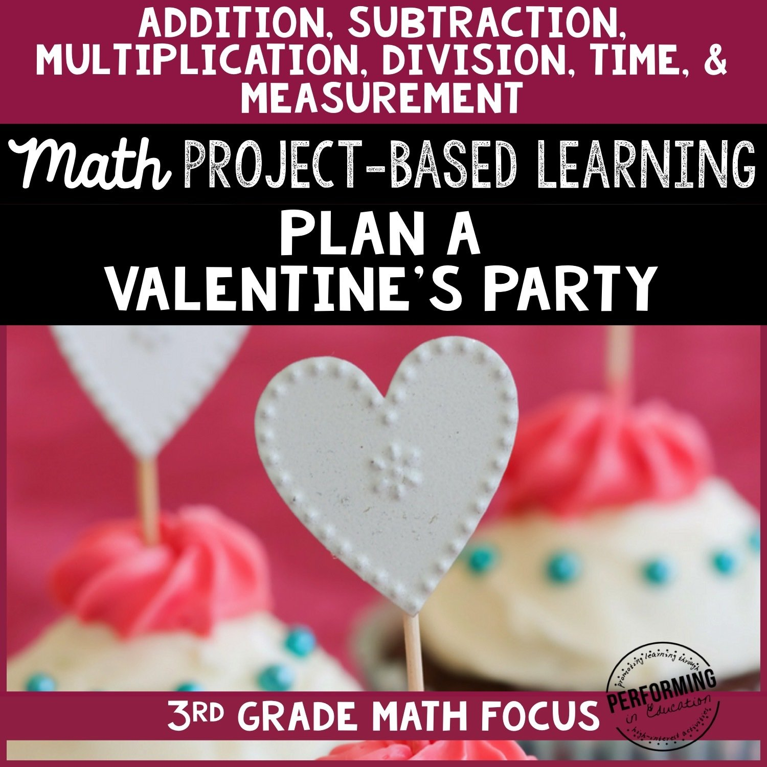 Valentine's Day Math Project-based Learning: 3rd Grade Edition 00057