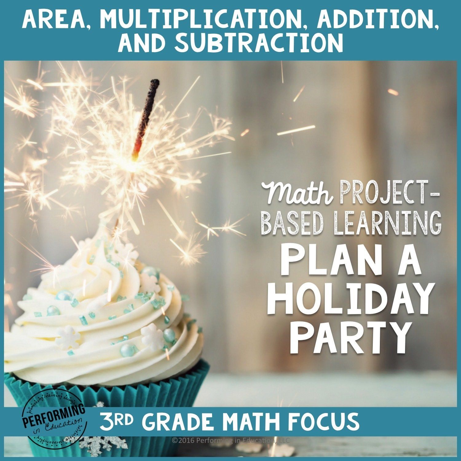 Winter Project Based Learning for 3rd Grade: Plan a Holiday Party 00059