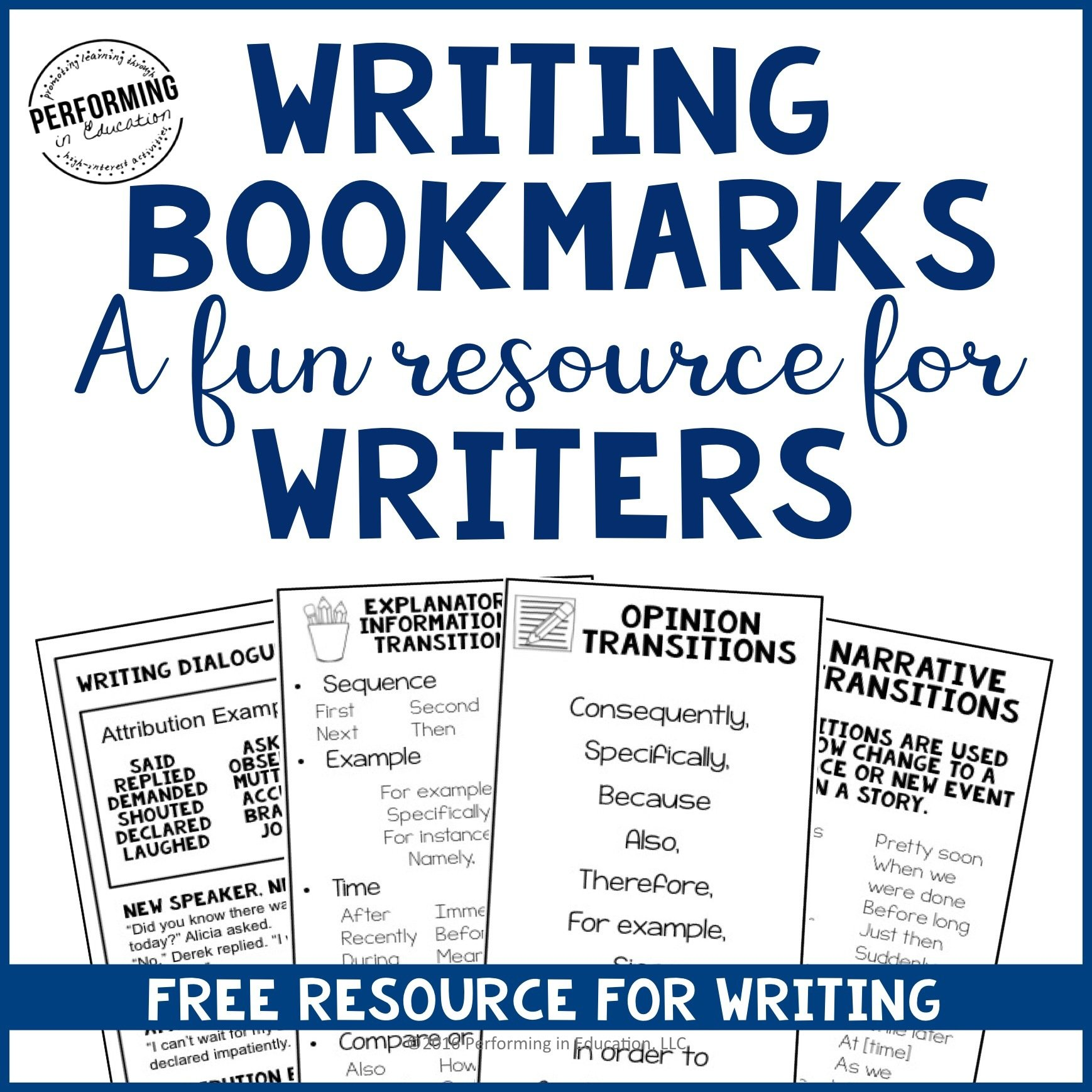 ADD-ON Free Writing Bookmarks 00064