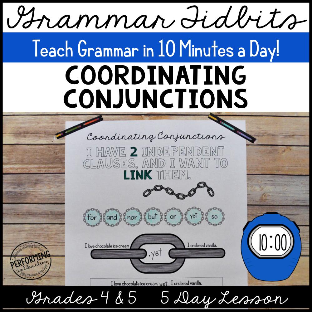 Grammar Tidbits: Coordinating Conjunctions 00065