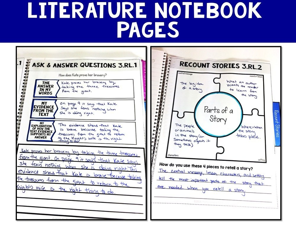 3rd Grade Reading Interactive Notebook Mini Lessons ENTIRE YEAR