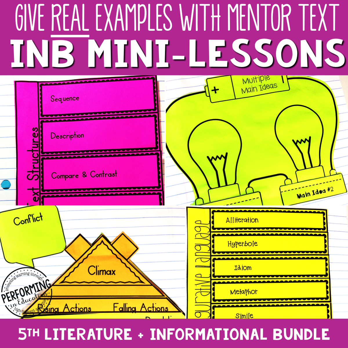 5th Grade Reading Interactive Notebook Mini Lessons ENTIRE YEAR 00068
