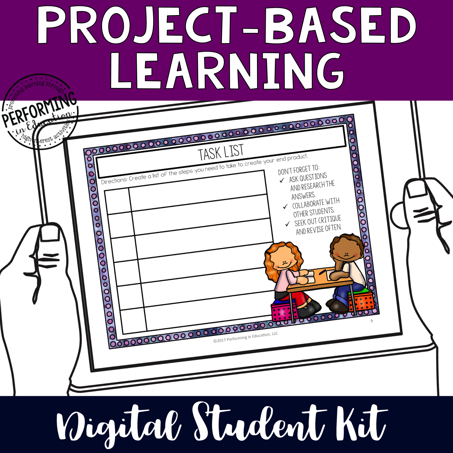 Grades 4-8th: Project-Based Learning Digital Organizers for Google Classroom Student Kit 00077