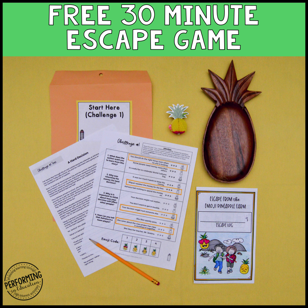 Free Classroom Community Escape Room Game