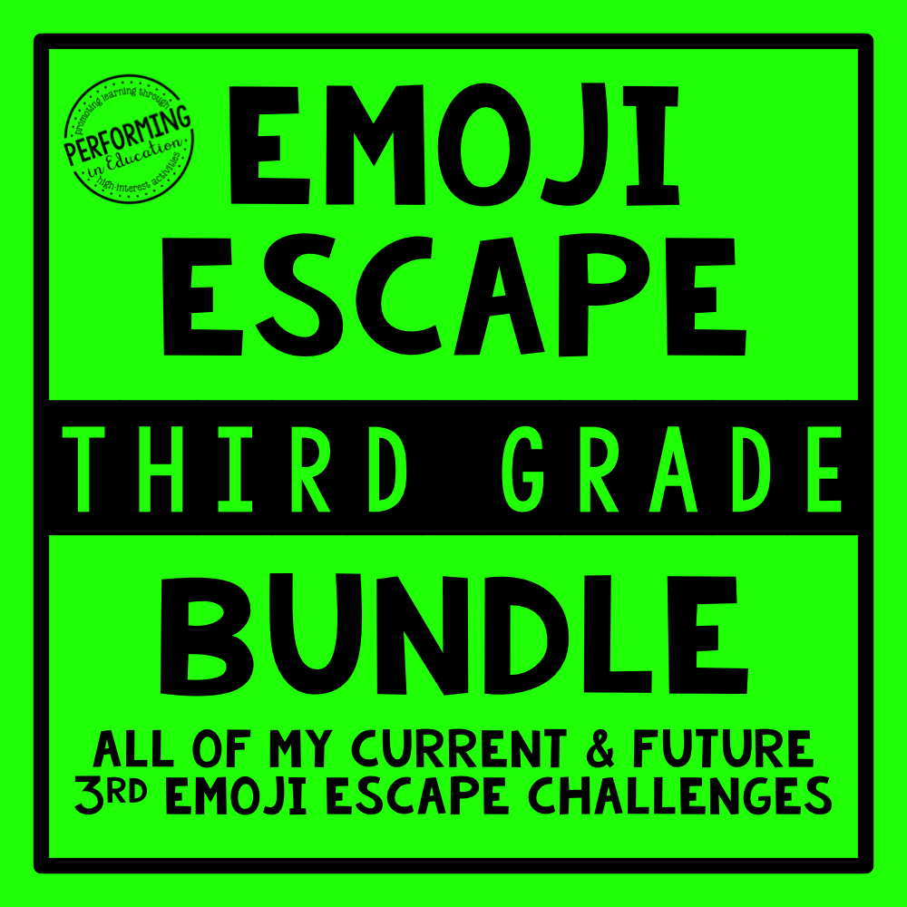 3rd Grade Emoji Escape Bundle & Membership 00079