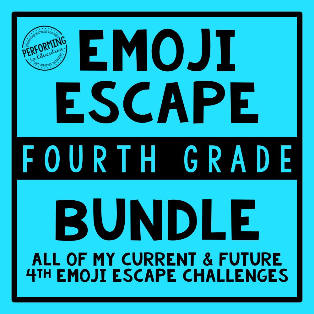 4th Grade Emoji Escape Bundle & Membership 00080