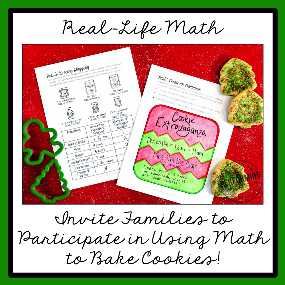 5th Grade Project Based Learning Holiday Cookie Exchange