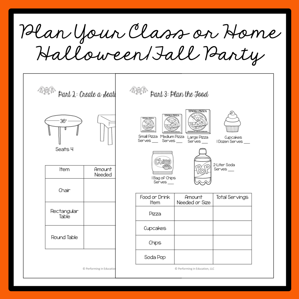 Halloween Math Project Based Learning: Throw a Bash