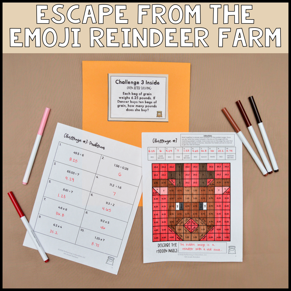 5th Grade Winter Escape Room (Math Review)
