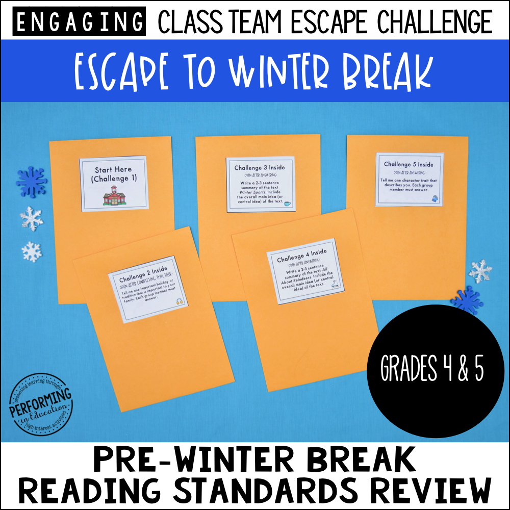 4th & 5th Grade Winter Escape Room 00087