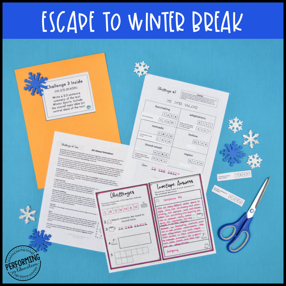 4th & 5th Grade Winter Escape Room