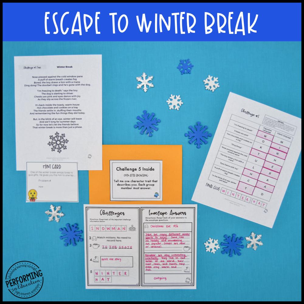 3rd Grade Winter Escape Room